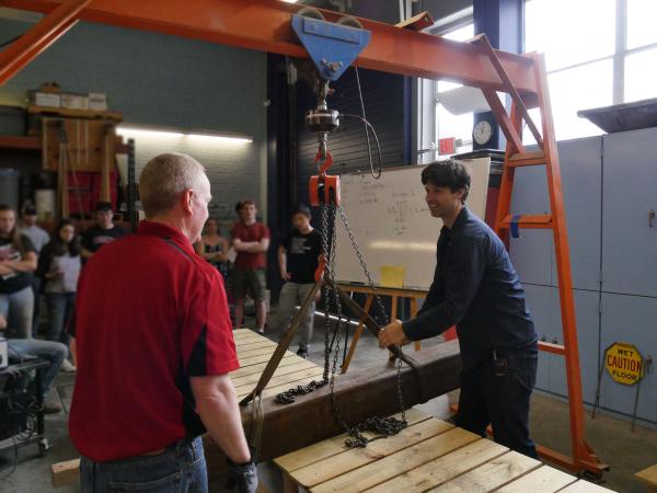 Assistant Professor Greg McLaskey's Structural Modeling and Behavior class