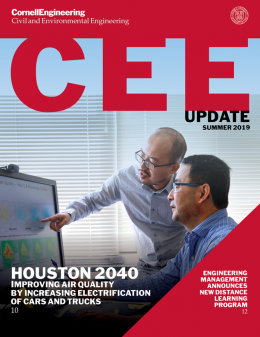 CEE Update summer 2019, Houston 2040 Improving Air Quality by Increasing Electrification of cars and trucks, Engineering management announces new distance learning program
