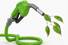 biofuels illustration of gas pump with leaves coming out
