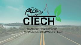 CTECH logo over image of a road with water on either side on a sunny day.