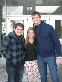 (From left to right: Hugo Lima, Marina Servino, Marlon Passos)