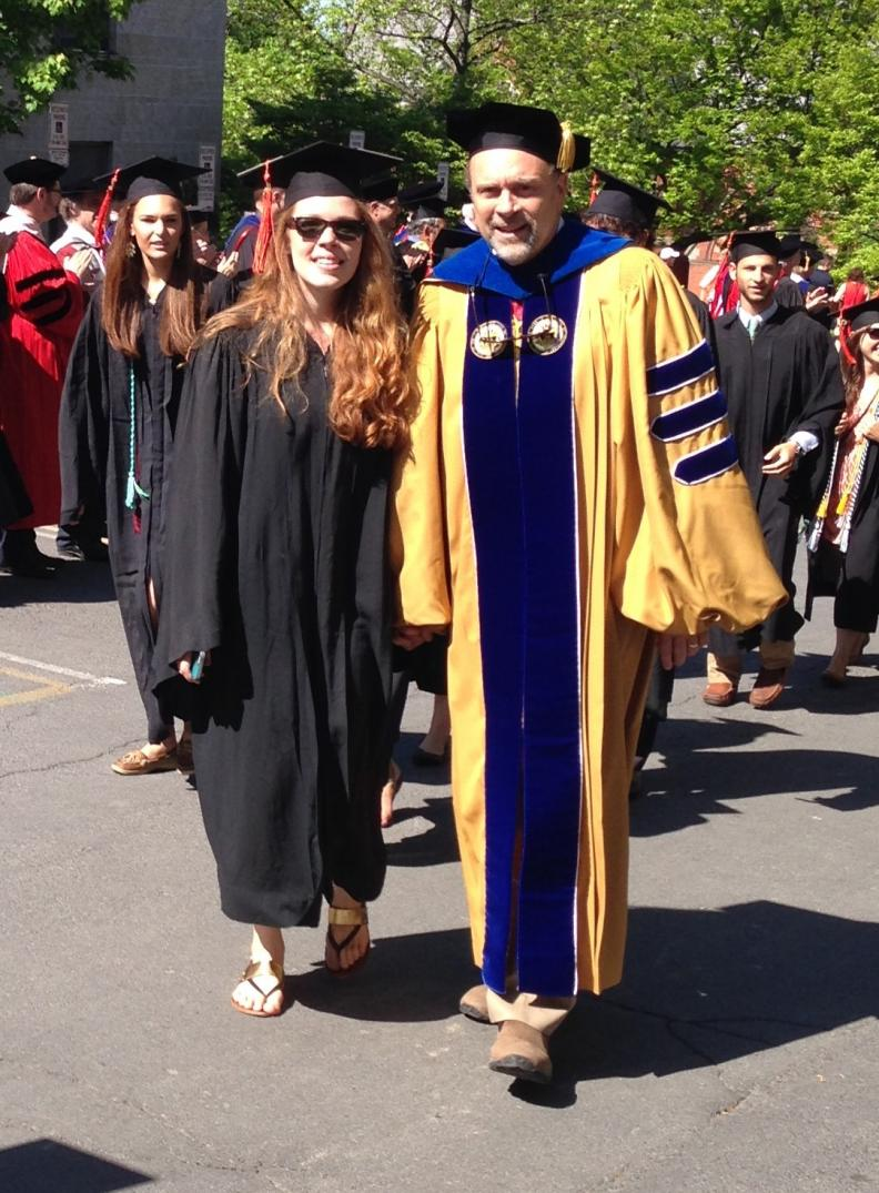Chaney and Matt Miller on the day of Chaney's graduation from Cornell in 2014 with a Bachelor's Degree in Civil Engineering