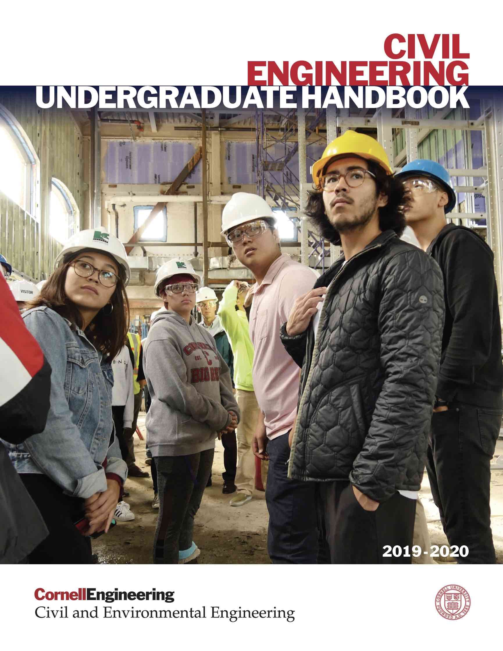 Civil Environmental Engineering Undergraduate Handbook 2019-2020